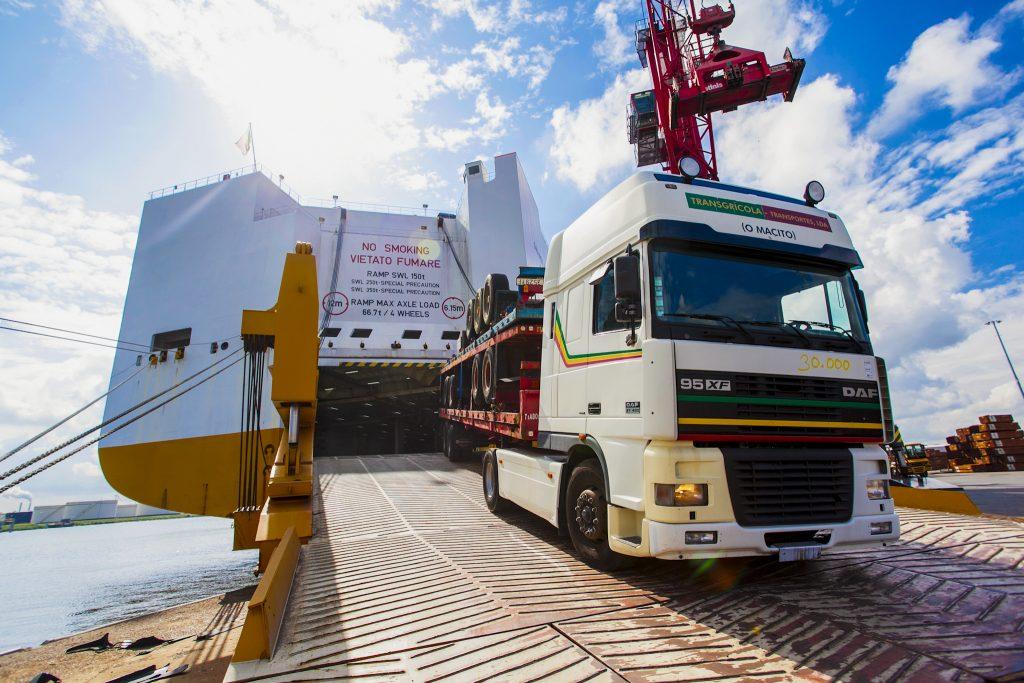 Roro services - Truck exit Roro Vessel